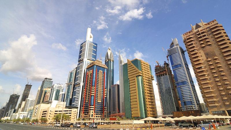 شارع الشيخ زايد من بين مواقع العرض المستقبلي للمكاتب الممتازة. أرشيفية