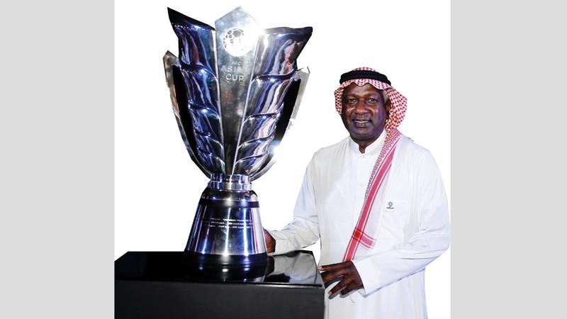 ماجد عبدالله شارك  في احتفالية العدّ التنازلي لكأس آسيا 2019 . من المصدر