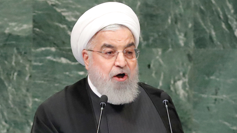 روحاني وصف ترامب بالنازي.    غيتي