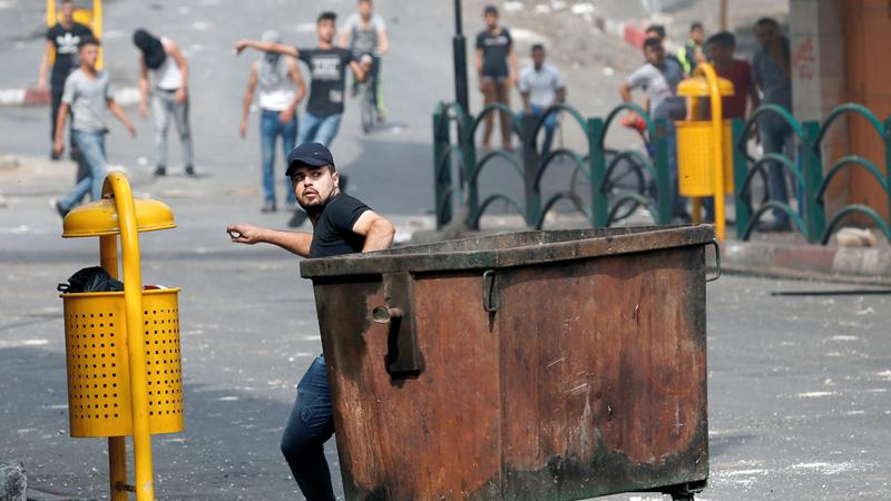 جانب من الاشتباكات في الضفة الغربية المحتلة. رويترز