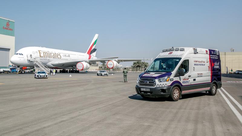 «إسعاف دبي» حققت استجابة بمعدل زمني 4 دقائق لـ 93% من البلاغات في مطاري دبي وآل مكتوم الدوليين. من المصدر
