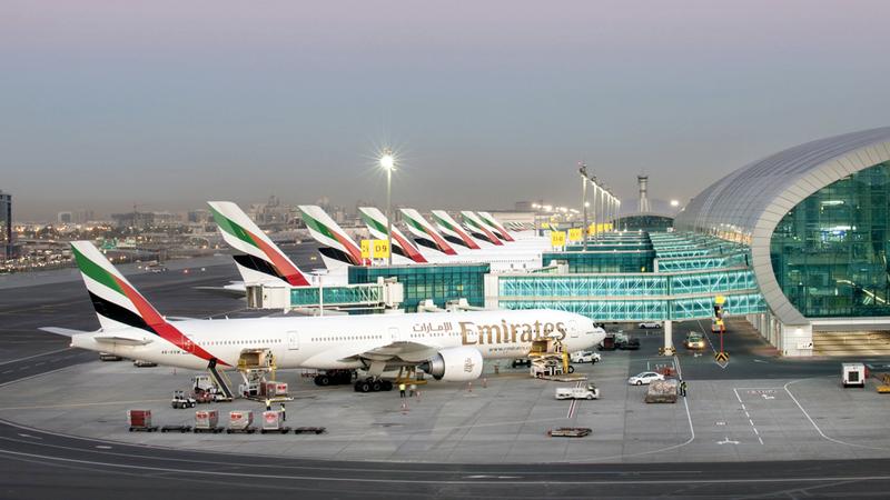حركة الطائرات في مطار دبي ارتفعت خلال شهر أغسطس الماضي لتصل إلى 35.4 ألف حركة. من المصدر