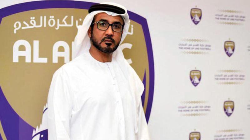رئيس مجلس إدارة العين غانم الهاجري. الإمارات اليوم