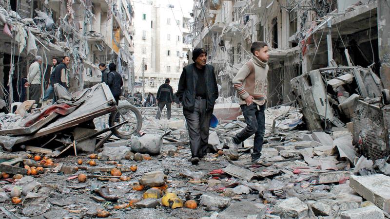 الحرب في سورية أبرزت الدور الروسي بشكل غير مسبوق. أرشيفية