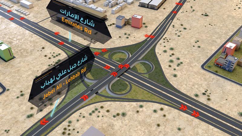 مخطط للمرحلة السادسة من الطرق المؤدية إلى موقع «إكسبو».  من المصدر