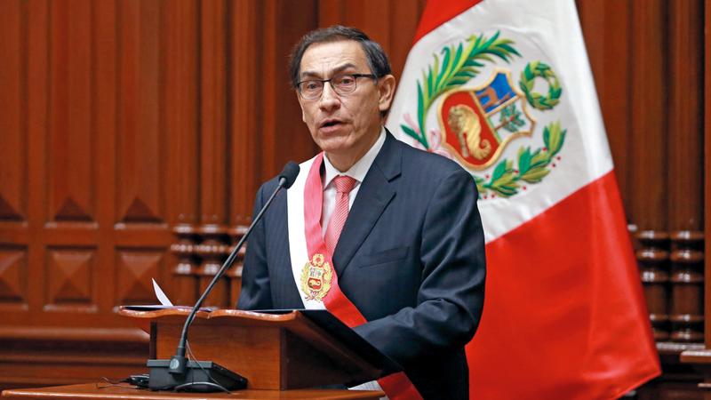 شعبية الرئيس البيروفي تزايدت بعد اقتراحه مجموعة من  الإصلاحات المالية والسياسية. أرشيفية