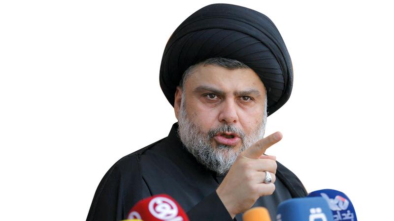 الصدر نجح في لعب دور سياسي يتخطى دوره الديني. أرشيفية