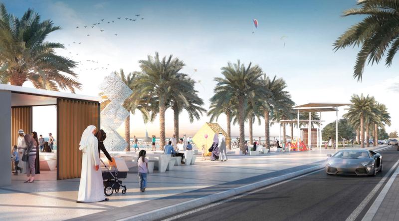 مشروع تطوير شاطئ الشارقة يحول المنطقة إلى وجهة سياحية عائلية ومساحة للتفاعل الاجتماعي. من المصدر