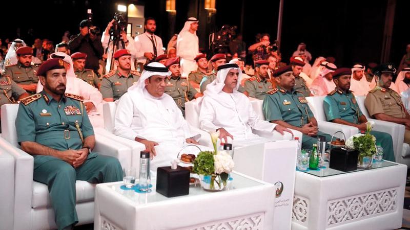 سيف بن زايد أثناء حضوره حفل تدشين المشروع. من المصدر