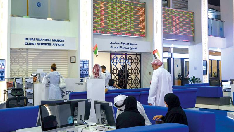 سوق دبي المالي أغلق على 2755 نقطة بنهاية تعاملات امس. تصوير: أشوك فيرما