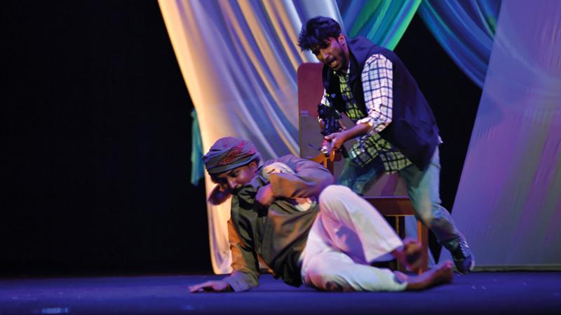 العرض قدمته جمعية دبا الحصن للثقافة والتراث والمسرح.  تصوير: مصطفى قاسمي