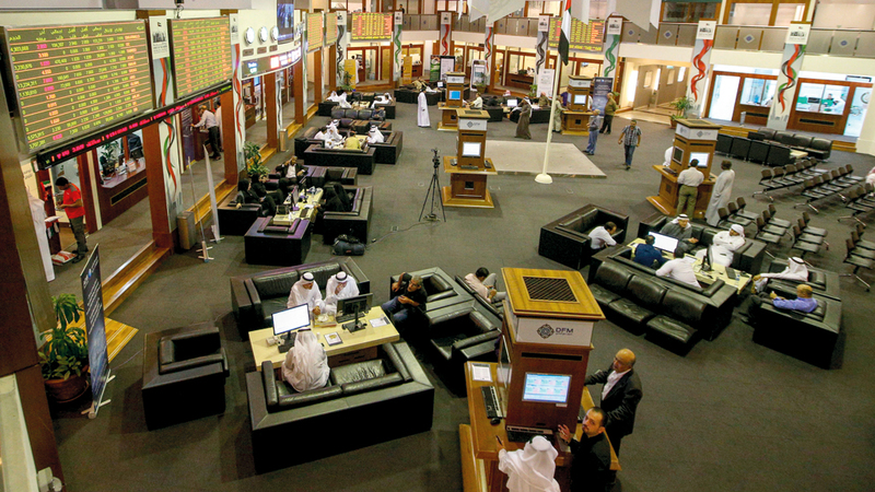 277 مليون سهم تداولها سوق دبي المالي أمس. تصوير: أشوك فيرما
