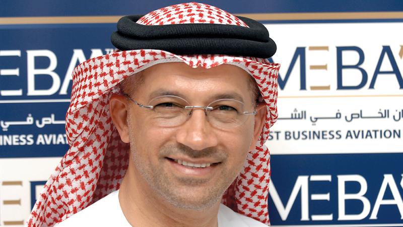 علي النقبي: «الإمارات والسعودية تستحوذان على 70% من الطائرات الخاصة ورجال الأعمال المسجّلة في المنطقة».