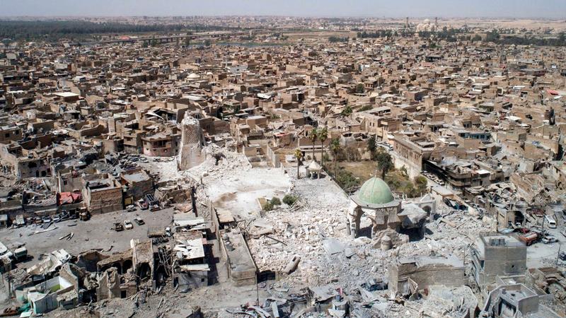 الموصل العراقية لحق بها التهديم.  أرشيفية