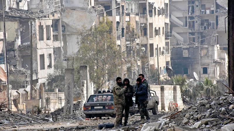 حلب المدينة التاريخية تحولت إلى ركام.  أرشيفية