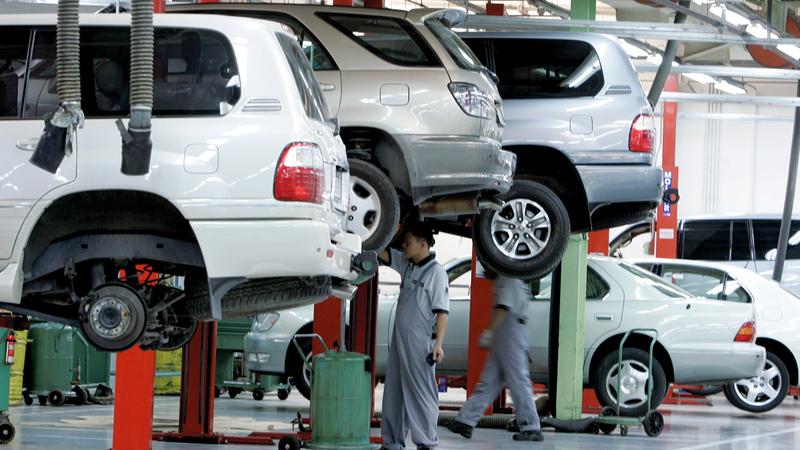 قطاع السيارات يشكّل الحصة الأكبر من عمليات الاسترداد بنسبة تتجاوز 95% سنوياً. أرشيفية