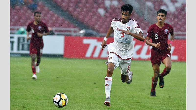 المنتخب فاز على قطر 2-1 في لقاء الجولة الأولى. من المصدر