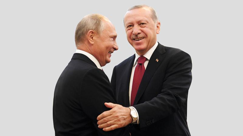 بوتين وأردوغان في لقاء سابق.  أرشيفية - أ.ب