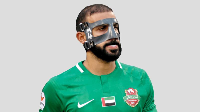محمد مرزوق سجل هدف شباب الأهلي الثمين. من المصدر