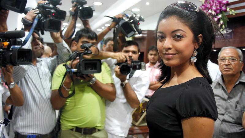 الممثلة تانوشري دوتا قبل تركها التمثيل والسفر إلى الولايات المتحدة. من المصدر