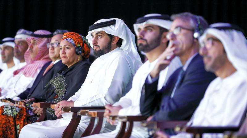 أحمد بن محمد شهد الجلسة الافتتاحية للدورة الثانية لـ«منتدى الأمم المتحدة للبيانات 2018». وام