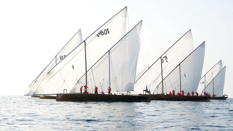 سباق دلما يمرّ بـ7 جزر تُبرز أهم المعالم التراثية والحضارية في المنطقة. من المصدر