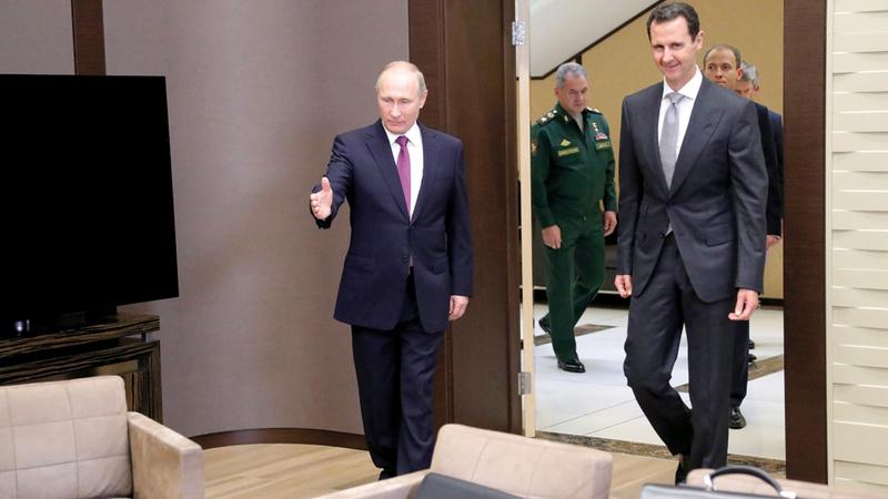 بوتين والأسد علاقة وطيدة تدعمها المصالح.  أ.ف.ب
