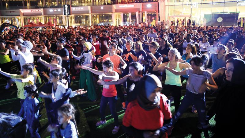 فعاليات «التحدي» تهدف إلى نشر ممارسة الرياضة. الإمارات اليوم