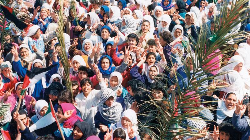 الانتفاضة الفلسطينية الأولى كانت الأعنف.  غيتي