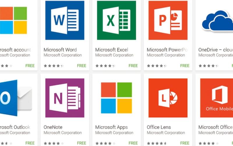 الصورة: «مايكروسوفت» تسعى إلى التوسع  في تطبيقات «المحمول» على «غوغل بلاي»