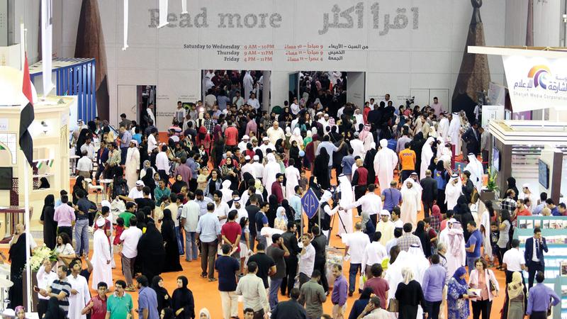 المعرض استقبل العام الماضي أكثر من 2.38 مليون زائر وبلغت قيمة مبيعاته 206 ملايين درهم.  من المصدر