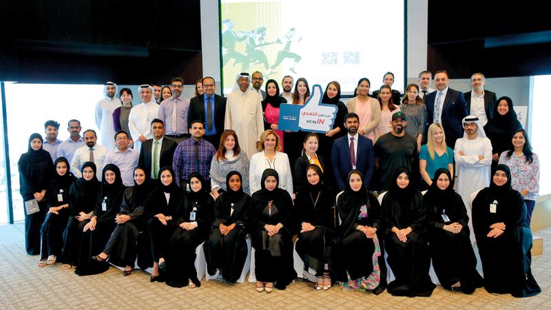 غرفة دبي نظمت لقاء الموظفين الشهري وتضمن جلسة تعريفية حول «تحدي دبي للياقة». من المصدر