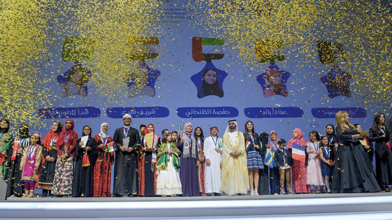 يهدف التحدي إلى ترسيخ ثقافة القراءة والبحث والتفكير النقدي لدى الأجيال الصاعدة. الإمارات اليوم
