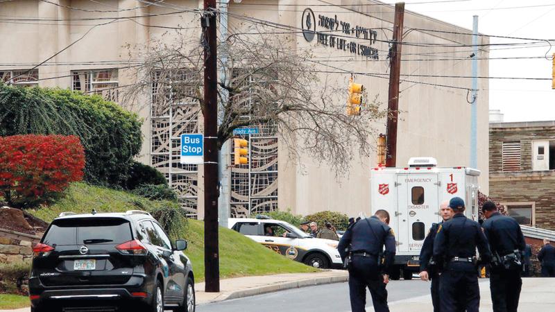 الهجوم على الكنيس أسفر عن مقتل 11 شخصاً.  أرشيفية