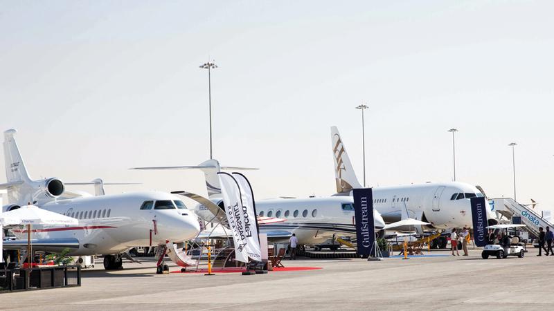 الإمارات والسعودية تستحوذان على الجزء الأكبر من أسطول الطيران الخاص في المنطقة. أرشيفية