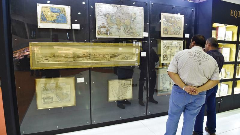 المخطوطات النادرة تسلط الضوء على المجد الذي عرفه العرب والمسلمون في قرون مضت.  تصوير: أسامة أبوغانم