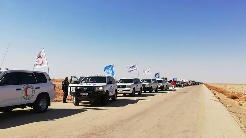 الأمم المتحدة: إيصال المساعدات إلى مخيم الركبان غير كاف. إي.بي.إيه