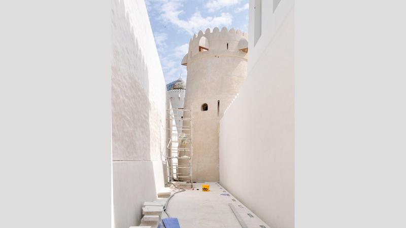 صورة بعد الترميم لبرج المراقبة. تصوير: نجيب محمد