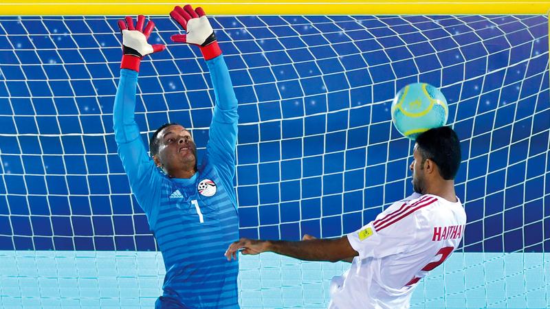 المنتخب خسر ضربة البداية أمام مصر 3-1.  تصوير: باتريك كاستيلو
