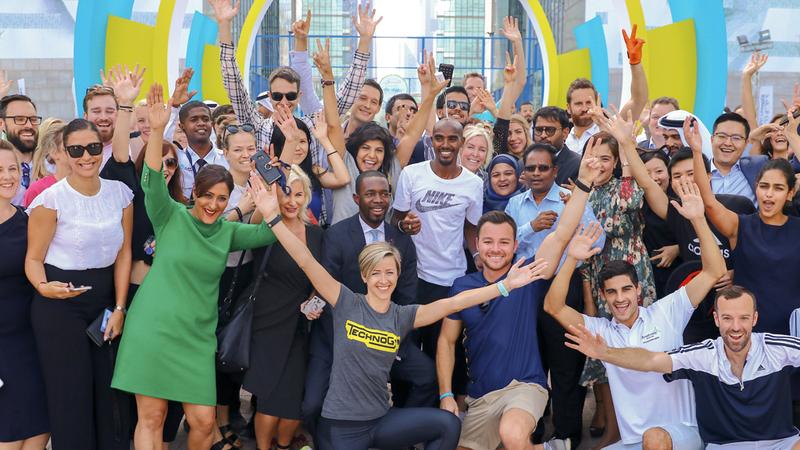 «مو فرح» واستقبال خاص من المشاركين في «التحدي». من المصدر