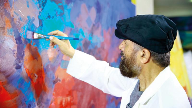 عبدالقادر الريس.. رحلة مميزة مع الفن. أرشيفية