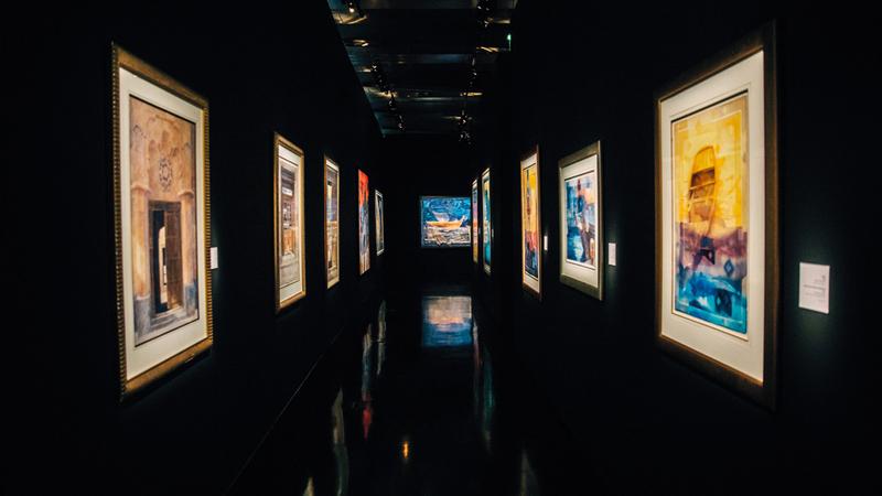 المعرض أقيم ضمن مبادرة «الحوار الثقافي الإماراتي ـ الفرنسي». من المصدر