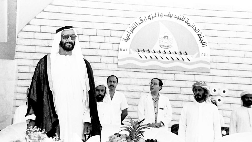 العامري رافق الشيخ زايد 42 عاماً. أرشيفية