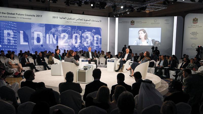 الدورة الثالثة من اجتماعات مجالس المستقبل العالمية تنطلق بالتعاون مع المنتدى الاقتصادي العالمي «دافوس». تصوير: أشوك فيرما