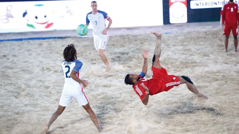 المنتخب الوطني خسر أمام الأميركي 3-5. من المصدر