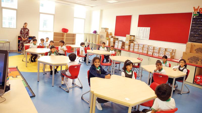 37.9 ألف مقعد شاغر في مدارس خاصة بمدينة أبوظبي. من المصدر