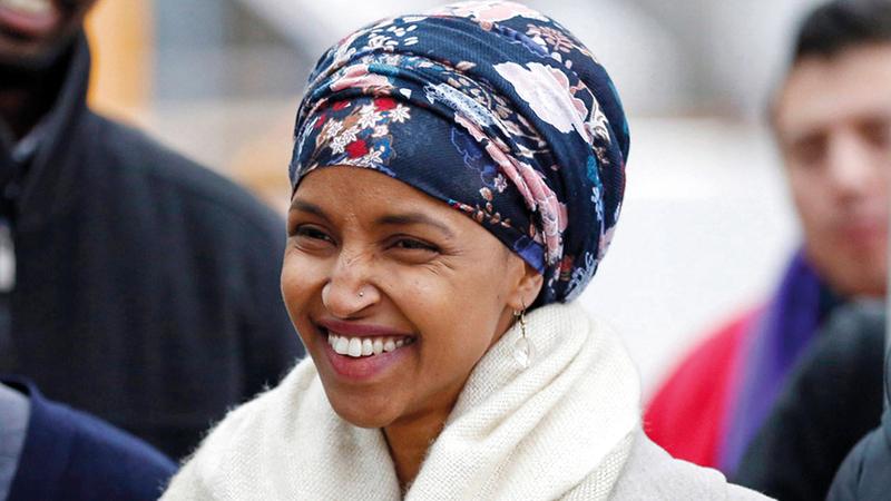إلهان عمر أصبحت عضواً في الكونغرس المنتخب.