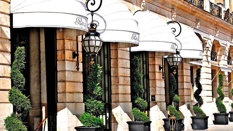 فندق ريتز أحد أشهر الفنادق في العالم. أرشيفية