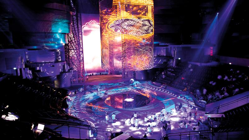 تُعرض «أسطورة الأب» على مسرح الحبتور أحد المسارح الأكثر تقدماً في الجانب الفني بالعالم.  من المصدر