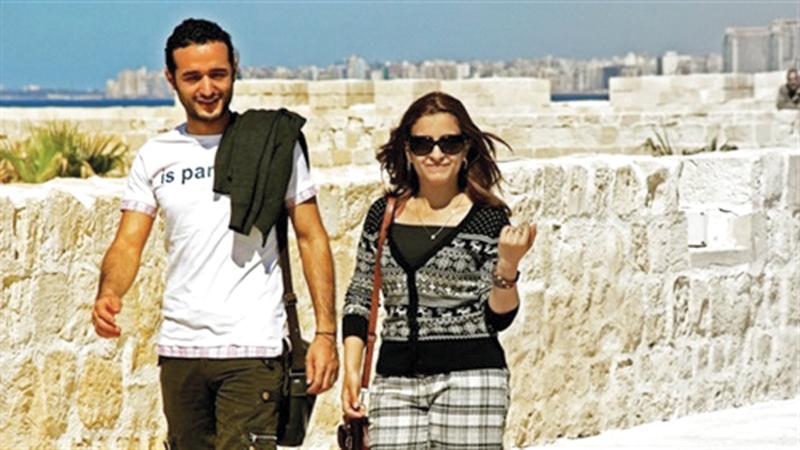 أحمد دومة وزوجته نورهان حفظي انفصلا بعد زواج دام تسع سنوات.  أرشيفية
